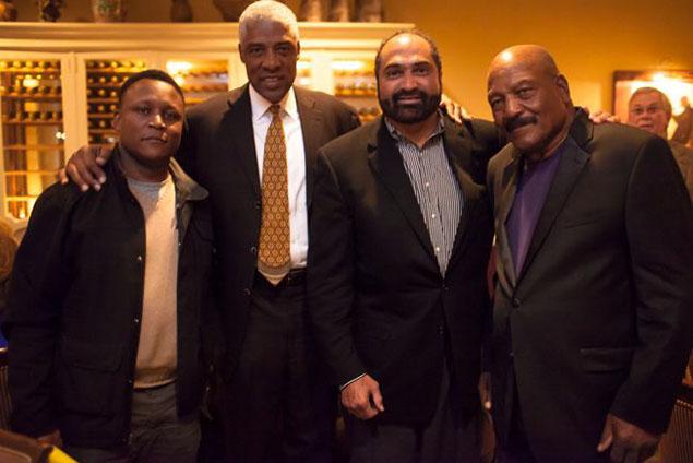 Hall of Famers Barry Sanders, Julius Erving, Franco Harris and Jim Brown