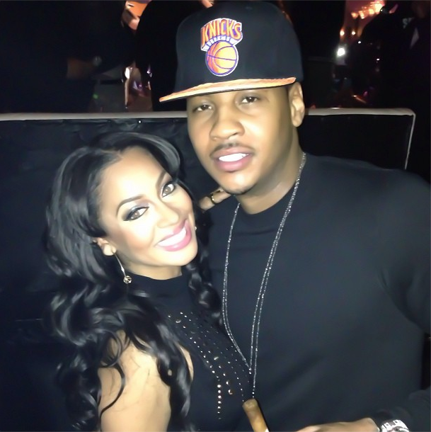Lala And Carmelo Anthony At AllStar Weekend Houston