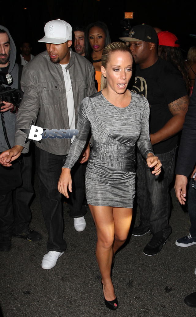 Kendra Wilkinson and Hank Baskett attend a party at Greystone Manor