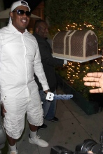 Master P celebrates his 46th Birthday with Lil Romeo at Mr. Chow