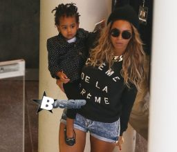 Beyonce arrives at Rod Laver Arena in Melbourne with her daughter Blue Ivy, for her first Melbourne show as apart of her 'The Mrs. Carter Show World Tour'. Pictured: Beyonce and Blue Ivy