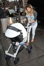 Kim Kardashian and Kanye West out and about with baby North West