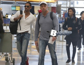 Will Smith and his son, Jaden at Los Angeles International airport Featuring: Will Smith,Jaden Smith Where: Los Angeles, California, United States When: 30 Jan 2014 Credit: WENN.com