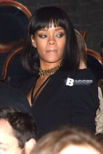 Rihanna reunited with her on-again, off-again boyfriend Drake at Club Soixante Dix Neuf in Paris. Drake and Future the Prince headlined at the nightclub on it's one year celebration. The Canadian rapper kept the crowd moving as he took over DJ duties. After his set, Drake sipped on a cold beverage and showed off some dance moves. Once the party was over, Rihanna locked arms with a bodyguard and headed for the club's exit.