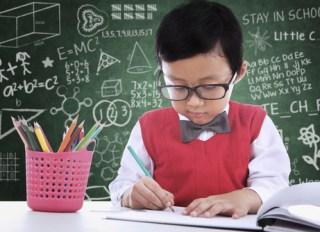 asian math geek kid