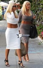 Karissa and Kristina Shannon enjoyed some sister time together over lunch at The Ivy in West Hollywood. After lunch, the Shannon twins headed down Robertson Blvd. and browsed some boutiques.