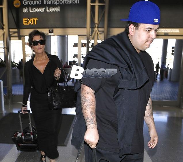Rob Kardashian and Kris Jenner feat