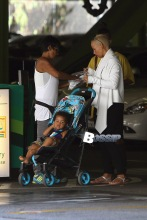 Amber Rose, her son Sebastian and a couple of companions arrive at Westfield Fashion Square Mall for an afternoon of shopping.