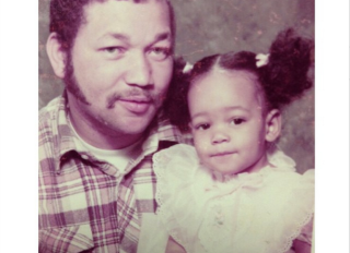 Monica Brown and her dad