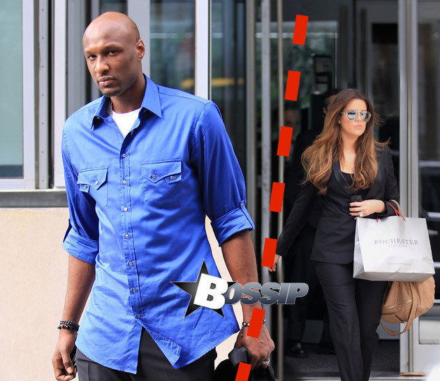 Khloe Kardashian and Lamar Odom out and about after Lamar's vehicle was in an accident with a motorcyclist and a 15 year old boy