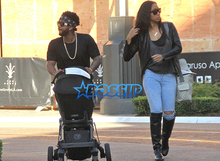 Omarion Goes Shopping At The Grove With Fianceé Apryl ...
