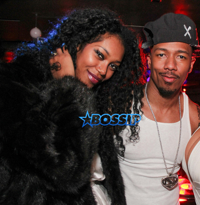 Jessica White, Nick Cannon & Amber Rose at Mur.Mur nightclub