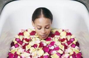 shutter - black woman spa tub