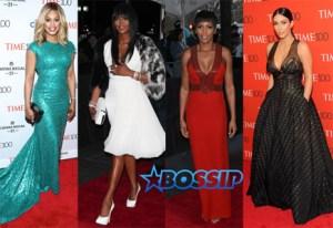 Laverne Cox Naomi Campbell Tamron Hall Kim Kardashian