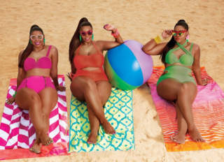 plus size models Chanel Cherie Tabria Majors and Chastity Saunders in Ebony Magazine swimsuit spread photo credit Itaysha Jordan Styled by Marielle Bobo