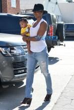 Kelly Rowland son Titan Jewell twists at studio