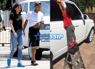 Kylie Jenner visits Sticker City and picks out a range at the dealership with Tyga and a friend