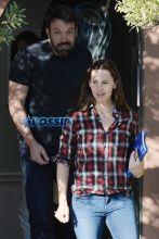 Ben Affleck and Jennifer Garner leave couples counseling smiling Santa Monica