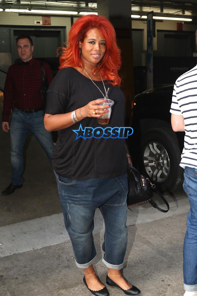 Splashnews Pregnant Kelis Soho House drop crotch jeans red hair