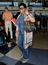 FameFlynetPIctures Jill Scott short hair glasses fringed poncho LAX