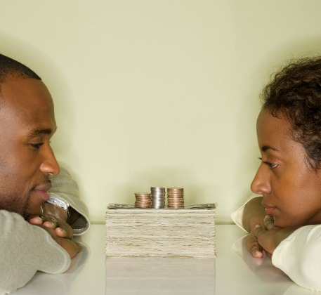 black couple money finances