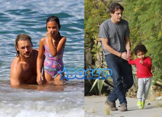 AKM-GSI Halle Berry's daughter Nahla spends time in Hawaii with father Gabriel Aubry and son Maceo spends time with father Olivier Martinez in L.A.