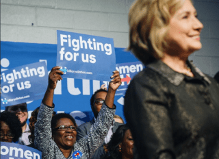 hillary clinton african american vote