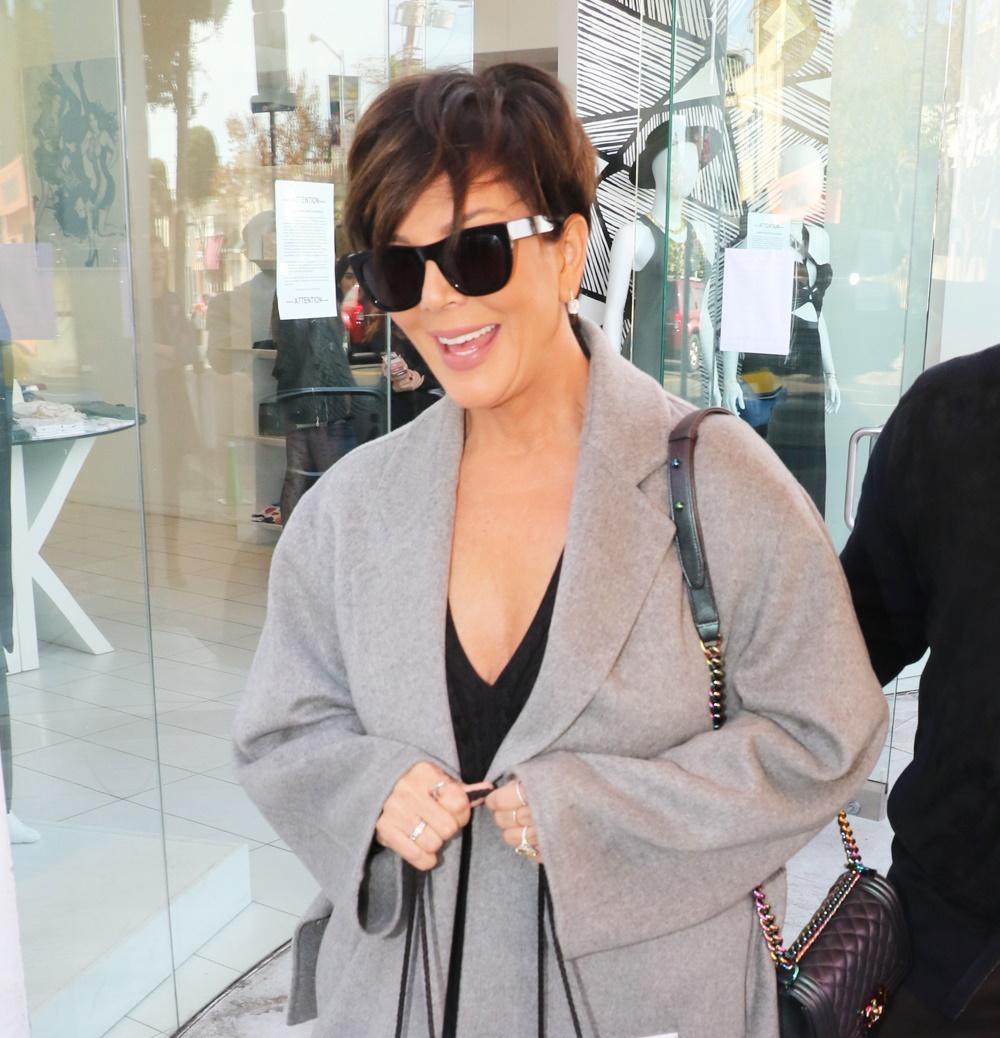 Kris Jenner and Corey Gamble attend Kylie Jenner's lip gloss launch at Dash Boutique in West Hollywood!