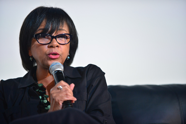 Cheryl Boone Isaacs attends a Conversation with President of the Academy of Motion Picture Arts & Sciences (AMPAS)