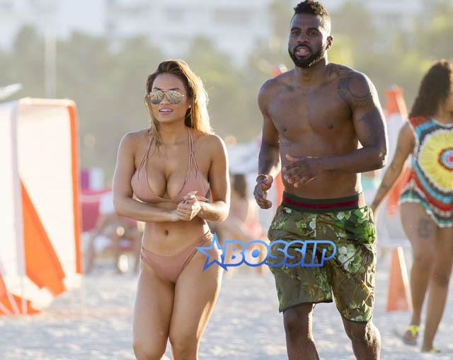 SplashNews Jason Derulo Daphne Joy nude thong bikini 50 cent's ex Miami