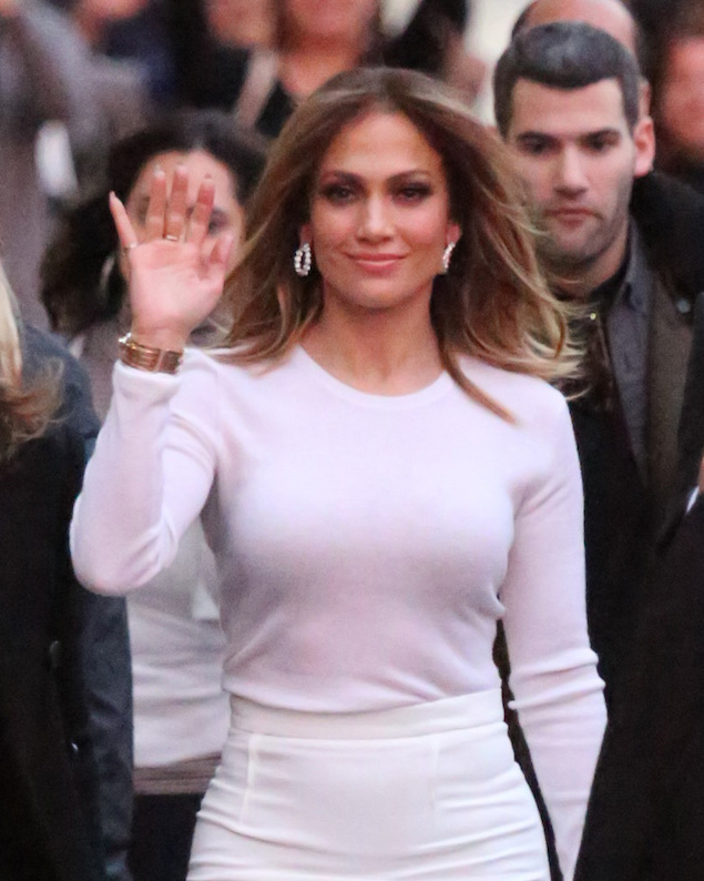 Jennifer Lopez arriving at Jimmy Kimmel Live!