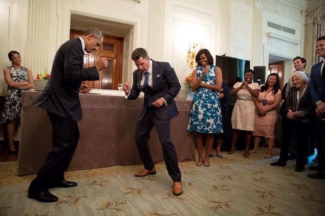 President Barack Obama 14 cut a rug