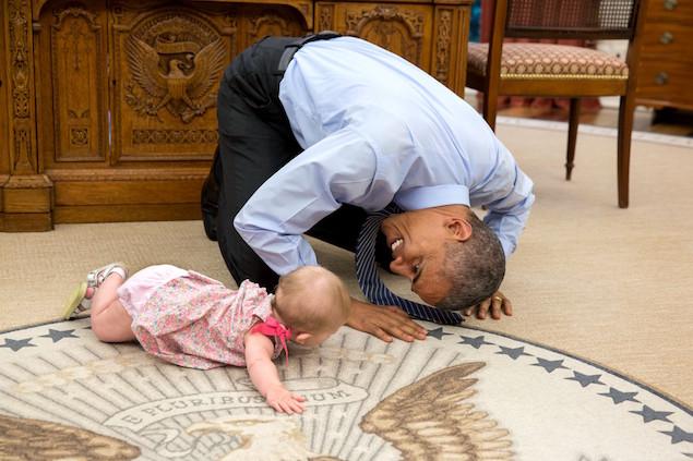President Barack Obama 15 baby floor