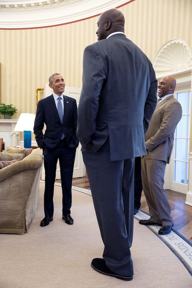 President Barack Obama 2 Shaq