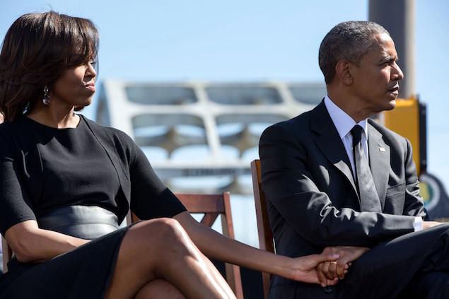 President Barack Obama 3 Selma holding hands