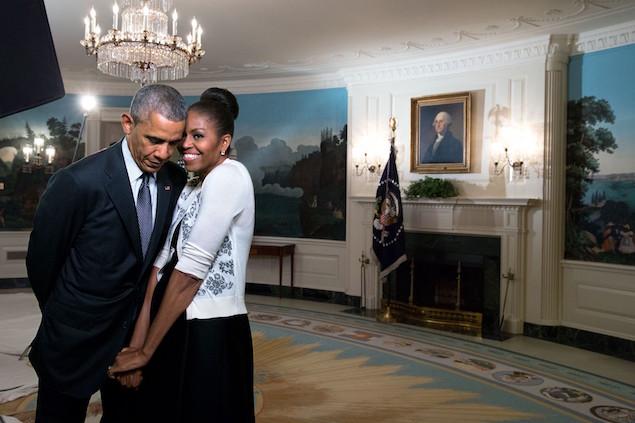 President Barack Obama 7 Michelle snuggle
