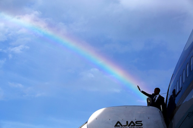 President Barack Obama 8 rainbow AF1