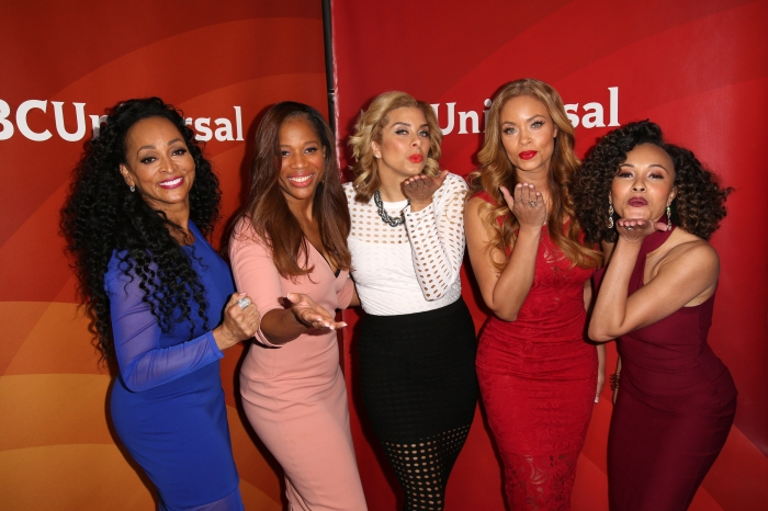 Celebrities attend 2016 NBCUniversal Press Tour at The Langham Huntington Hotel & Spa. Featuring: Karen Huger, Charrisse Jackson-Jordan, Robyn Dixon, Gizelle Bryant, Ashley Darby Where: Los Angeles, California, United States When: 13 Jan 2016 Credit: Brian To/WENN.com