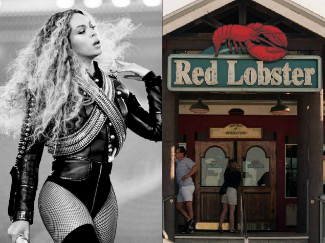 Beyonce boosts Red Lobster sales
