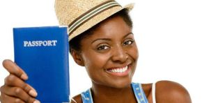 black woman traveler passport