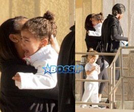 AKM-GSI North West Penelope Disick leave Karate class, North crying, Penelope juice box