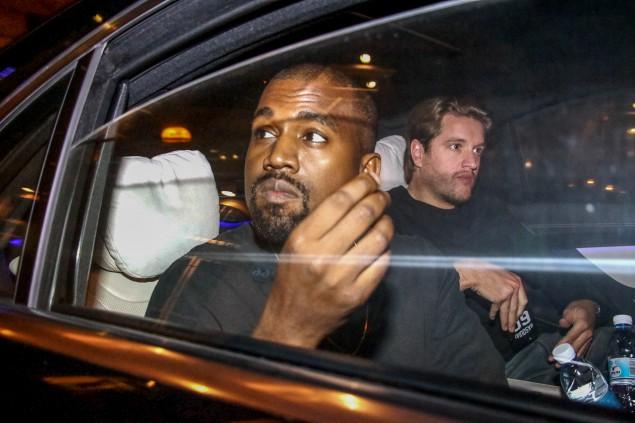 Kanye West leaving Aria Bar & Restaurant