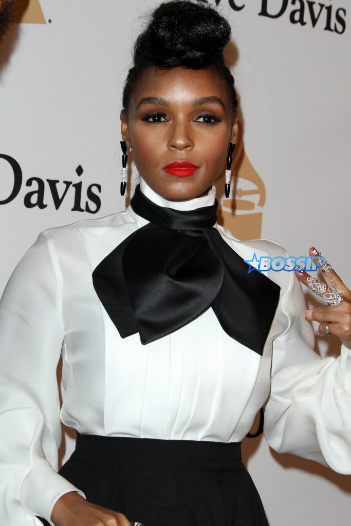 Clive Davis 2016 Pre-Grammy Gala held at the Beverly Hilton Hotel Featuring: Janelle Monae Where: Los Angeles, California, United States When: 14 Feb 2016 Credit: Adriana M. Barraza/WENN.com