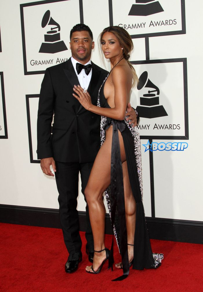 58th Annual GRAMMY Awards 2016 - Arrivals held at the Staples Center Featuring: Russell Wilson, Ciara Where: Los Angeles, California, United States When: 15 Feb 2016 Credit: Adriana M. Barraza/WENN.com