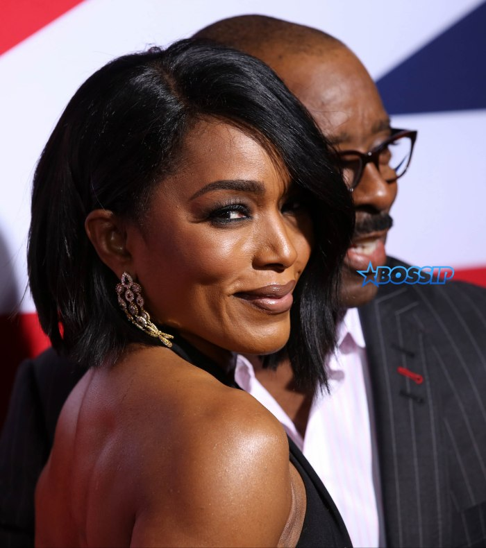 Premiere of Focus Features' 'London Has Fallen' held at ArcLight Cinemas Cinerama Dome - Arrivals Featuring: Angela Bassett, Courtney B. Vance Where: Los Angeles, California, United States When: 01 Mar 2016 Credit: Brian To/WENN.com