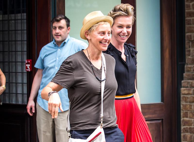 Ellen DeGeneres Leaving A New York Hotel