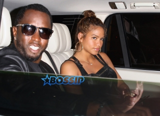 P. Diddy and Cassie Ventura attend Naomi Campbell's book launch event at Taschen. AKM-GSI 28 APRIL 2016