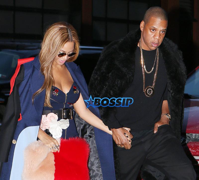 SplashNews Beyonce Jay Z NYC Kanye West fashion show fall 2015