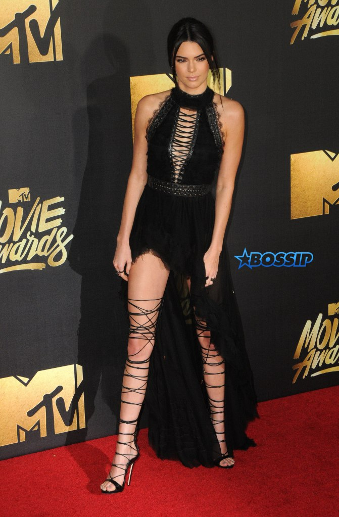 Arrivals for the 2016 MTV Movie Awards held at Warner Bros. Studios in Burbank Pictured: Kendall Jenner Ref: SPL1260840 090416 Picture by: AdMedia / Splash News Splash News and Pictures Los Angeles:310-821-2666 New York:212-619-2666 London:870-934-2666 photodesk@splashnews.com