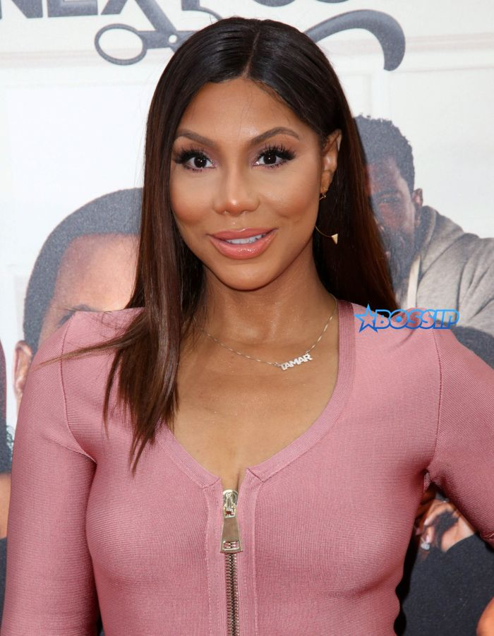 Celebrities attend BARBERSHOP: THE NEXT CUT premiere at TCL Chinese Theatre in Hollywood. Featuring: Tamar Braxton Where: Los Angeles, California, United States When: 06 Apr 2016 Credit: Brian To/WENN.com